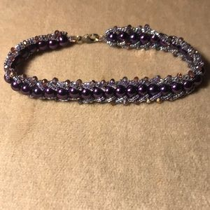 Handmade Plum Pearl Bracelet